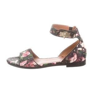 GIVENCHY - Satin Ankle Strap Sandals